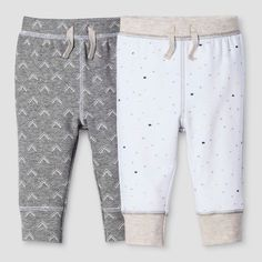 5878536f44ce Baby 2-Piece Pant Set Nate Berkus - Heather Grey White 3-6M