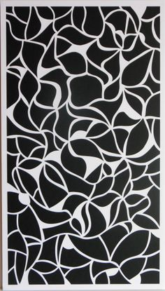 """#art """" Cloisons """" . Achevé le 24 février 2014. Découpage/collage, 45*26 cm, papier bristol, papier cartonné noir, collage sur carton.  un-monde-de-papier.tumblr.com"""