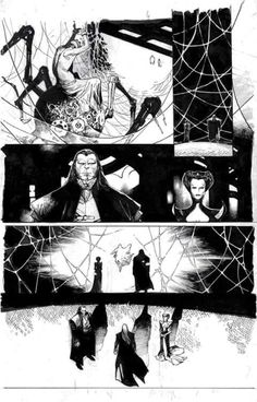 Amazing Spider-Man interior art by Olivier Coipel Comic Book Layout, Comic Book Pages, Comic Books Art, Black White Art, Comic Panels, Comic Styles, Comics Universe, Amazing Spider, Art Studies