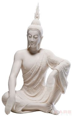 Deco Figurine Sitting Buddha White