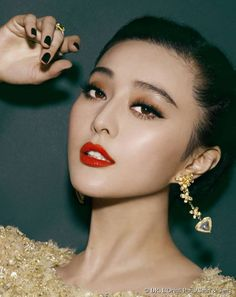 Fan Bingbing wore this make-up look for the second day of the Cannes International Film Festival on 16 May 2013.