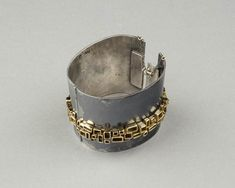 "Bracelet | Armand Brochard. ""Untitled"". 1971.  Silver and gold."