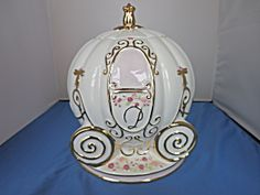 Cinderella Disney Princess Tea Time Carriage Cookie Jar