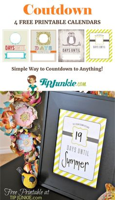 Free Printable Vacation Count Down Printable And Numbers Tags Also