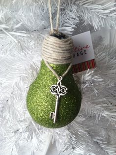 Handmade Christmas Ornaments, Lightbulb Ornaments, Christmas Ornaments Handmade by Creativebaggage on Etsy