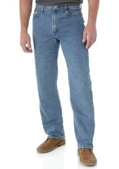 Wrangler Blue Relaxed Fit Jeans