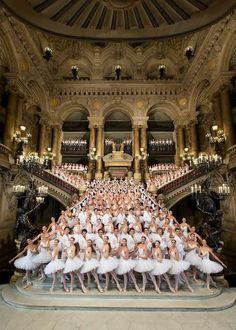 Les petits rats de l'Opéra Garnier.