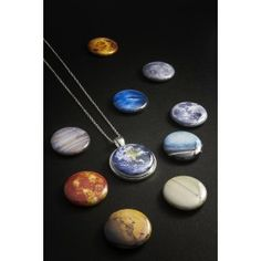 Interchangeable Solar System Necklace With 10 Designs