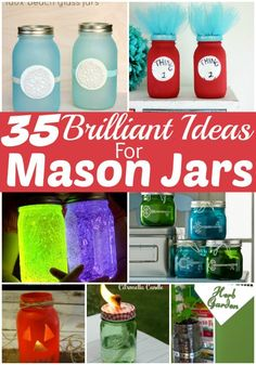 Mason Jar Craft Ideas - If you love mason jars the way that I do, you'll love these 25 Brilliant Mason Jar Crafts! They're easy to make, look amazing and did I mention brilliant?