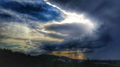 Storm before sunset