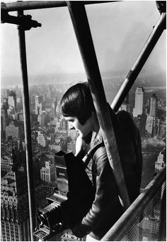Margaret Bourke-White photographed on top of the Chrysler Building, New York, 1931
