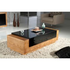 Contemporary American Oak Coffee Table   Overstock.com Shopping - The Best Deals on Coffee, Sofa & End Tables