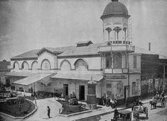 El Circo Orrin, ubicado en la antigua Plazuela de Villamil, hoy el Eje Central entre Mina y Pensador Mexicano, a inicios del siglo pasado. Este famoso centro de espectáculos desapareció en 1911, y hoy en su lugar se encuentra el Teatro Blanquita.
