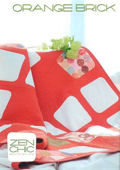 Orange Brick Quilt Pattern from Zen Chic by lilyrosequilts on Etsy, $11.50