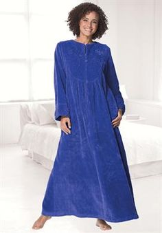 Long chenille robe by Only Necessities® | Plus Size Robes & Slippers | Roamans