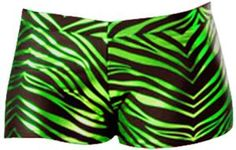 JB Bloomers Metallic Zebra Print Bootie Shorts - purple or green