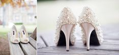 pearl encrusted shoes