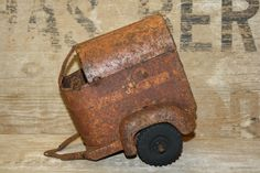 Child's Horse Trailer - Rusty Toy - Metal - Display Piece - Prop by CrownWillow…
