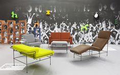 Traffic KONSTANTIN GRCIC - Hledat Googlem Sofa, Cushions, Pillows, Outdoor Furniture Sets, Outdoor Decor, Barcelona Chair, Sun Lounger, Designer, Vibrant Colors
