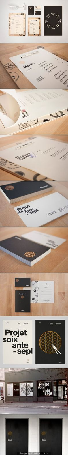 The concept, branding and design for Montreal's Projet 67 take inspiration from… Brand Identity Design, Graphic Design Branding, Typography Design, Logo Design, Identity Branding, Restaurant Menu Design, Restaurant Branding, Corporate Id, Corporate Design