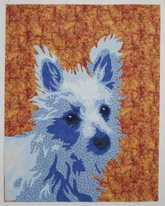 Portrait quilts, especially pet portraits, make some of the most intriguing art quilts. Color is the foundation of your composition, how do you choose?
