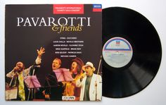 Mike Oldfield / LP Pavarotti And Friends GR: Decca label Mike plays Sentinel Mike Oldfield, Brian May, Lps, My Dream, Musicals, Music Instruments, Songs, Friends, Label