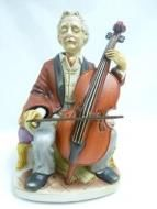 Price $119.16 Melody In Motion 1986 Handpainted amp; Handmade The Cellist Music Box  07011