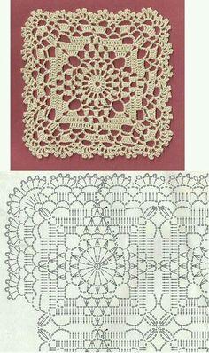 Crochet Lace Bedspread Square