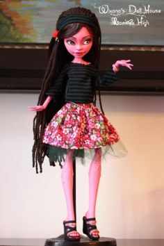 Monster-High-OOAK-Gooliope-doll-17-inch-custom-repaint-by-Wixana-full-set-shoes