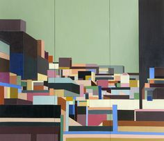 """Abstraction of the cityscabe, New York, 2014, """" Corrections 2"""""""
