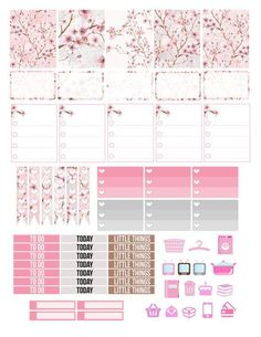 Printable Planner Stickers Cherry Blossom Japanese Japan Erin Condren MAMBI Happy Planner Glam Planning Pink Floral ECLP Vertical Made Easy.  Figure out even more at the picture