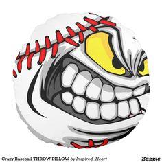 Shop Crazy Baseball THROW PILLOW created by Inspired_Heart. Indian Skull Tattoos, Deer Skull Tattoos, Cartoon Faces, Cartoon Drawings, Cartoon Art, Black Pitbull Puppies, Beautiful Dark Art, Motorcycle Paint Jobs, Graffiti Characters