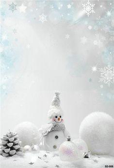 White Snowman Wonderland Photography Backdrop for Christmas