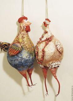 Купить Петух и курица в интернет магазине на Ярмарке Мастеров