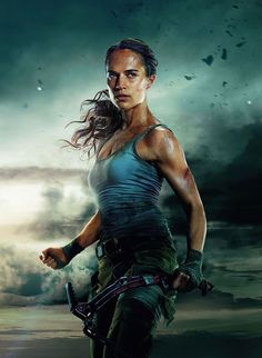 Formerly played by Angelina Jolie, Alicia Vikander has some pretty big shoes to fill as she embodies Lara Croft in Warner Brother's new film Tomb Raider Tomb Raider Alicia Vikander, Alicia Vikander Lara Croft, Tomb Raider Novo, Tomb Raider 2018, New Tomb Raider, Tomb Raider Lara Croft, Nathan Drake, Tomb Raider Full Movie, Jane Foster