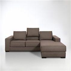 Porto Grand canapé-lit en tissu avec angle réversible et rangement ...