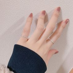 Where can we find cheap and beautiful nails? Korean girls love these 20 + nails designs, even at home can do it by themselves. Does this nude five-fingered jump color suit your heart? Each nail has different colors, but the same nude tone is more gentle and elegant. Save this Korean DIY Nail Designs Autumn Nude Pure Nails. #autumnnails #nailart #bridalnails #koreannails #Uña #đinh
