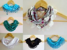 summer fashion scarvesnew scarf trendswhite by scarvesCHIC on Etsy, $15.90
