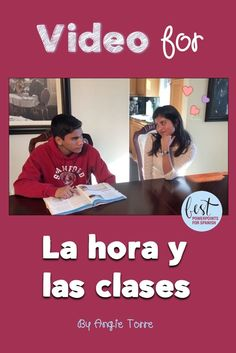 """Need comprehensible input for your lesson on #SpanishTimeAndClasses """"la hora y las clases""""? This video by Angie Torre provides language in context as love-struck Jessica queries Oscar about his classes. They repeat the expressions, """"empieza a las"""" and, """"termina a las"""" many times and also use vocabulary for the classes. Also included are the script and activities. #Lahora"""