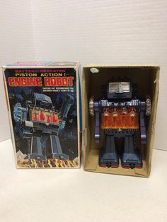 Battery Operated Piston Action Engine Robot S.H. Trademark made in Japan | Toys & Hobbies, Robots, Monsters & Space Toys, Robots | eBay!