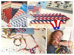 DIY Patriotic Firecracker Paper Straws Jewelry Set - YouTube