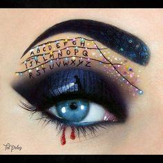 Stranger Things eye makeup art by Tal Peleg