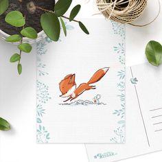 Postkaart 'Nieuwsgierig vosje' Studio Draak. Een feest om te versturen!