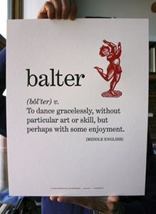 So there is a word for the way I dance!