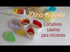 Dica rápida - Cortadores Caseiros - YouTube Diy Handmade Books, Clay Tools, Pasta Flexible, Cold Porcelain, Sewing Hacks, Biscuits, Projects To Try, Polymer Clay, Cookies