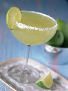 Simple Margaritas: 6 oz lime aid, 6 oz water, 4 oz tequila, 2 oz triple sec - serve over ice