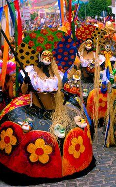 Carnival in Pernambuco and a dance style called, Maracatu - Brasil