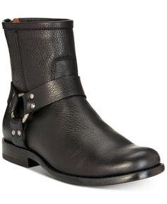 e02f099c258  FRYE  Women s Phillip Harness Ankle  Moto  Boot Black  Leather Size 6.5