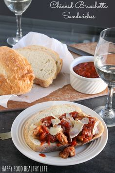 Open-Faced Chicken Bruschetta Sandwich - Link #3 @ The Weekend re-Treat Link party #41 http://thebestblogrecipes.com/2013/10/link-party-the-weekend-re-treat-41.html