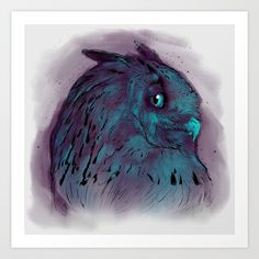 Collect your choice of gallery quality Giclée, or fine art prints custom trimmed by hand in a variety of sizes with a white border for framing. Watercolor Tattoo, Owl, Fine Art Prints, Gallery, Roof Rack, Owls, Art Prints, Temp Tattoo